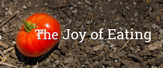 The joy of eating, by the Arboretum at CSUF