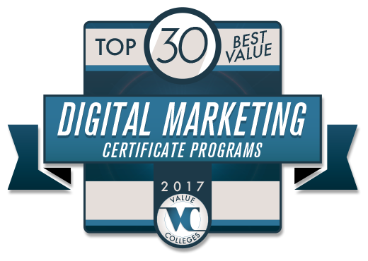Top 30 Best Value Digital Marketing Certificate Program