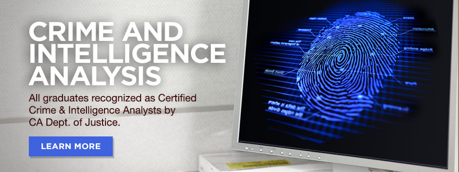 Crime and Intelligence Analysis courses at Cal State Fullerton.